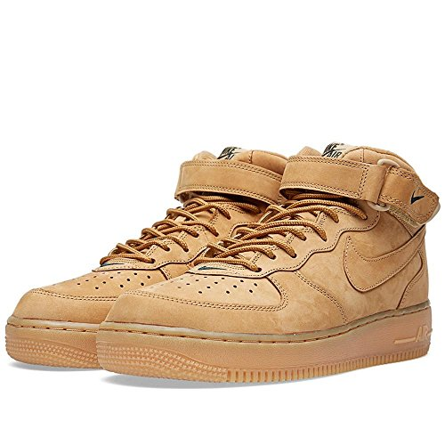 Nike Heren Air Force 1 Mid 07 Prm Qs Synthetische Basketbalschoenen Vlas / Vlas-outdoor Green