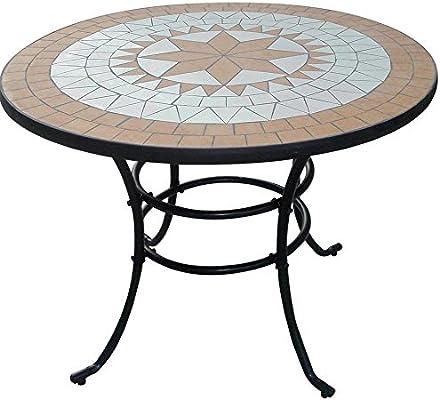 Mesa Liberty Mosaico de acero Muebles Jardín Muebles exterior ...