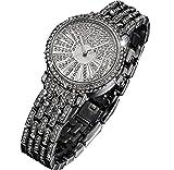 Kinglory New Luxury Women Watches Rhinestone Ceramic Crystal Quartz Watches Lady Dress Wa (Silver)