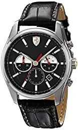 Ferrari Men\'s 830200 GTB - C Analog Display Quartz Black Watch
