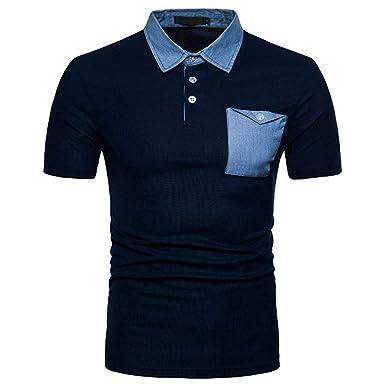 YpingLonk_ Camisetas de Hombre Polo Shirt, Bolsillo La Solapa ...