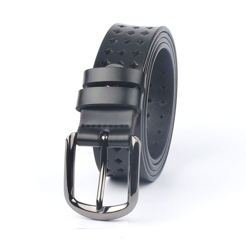 Hollow Out Star Genuine Leather Belt for Women Ladies Wide Belts