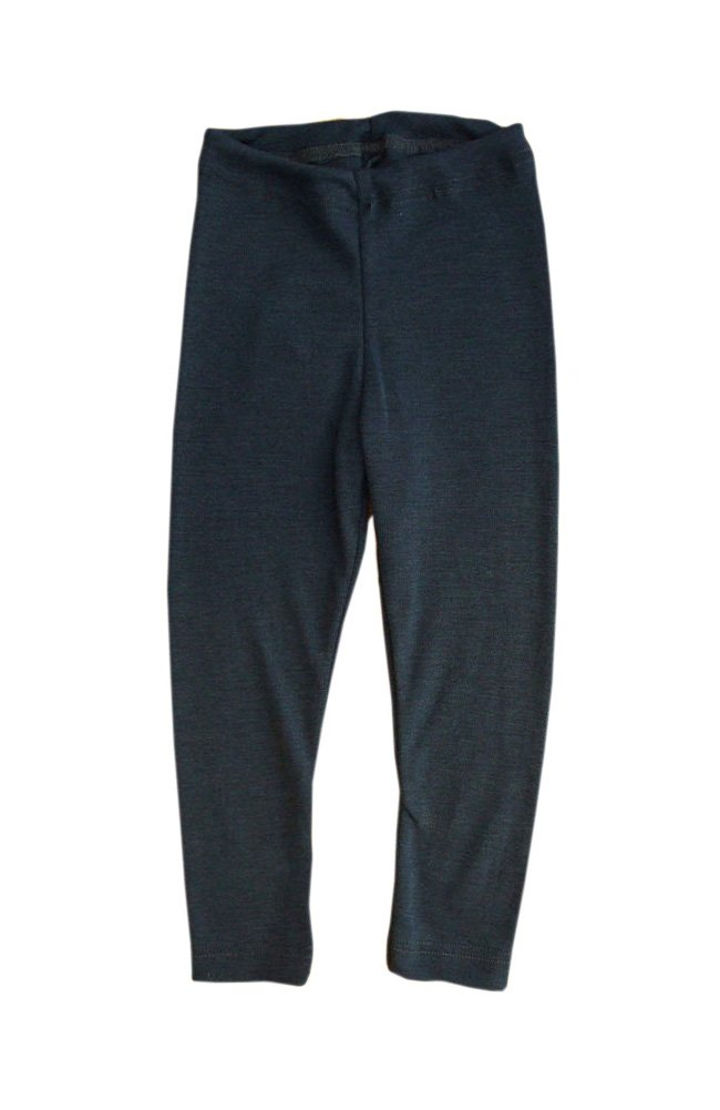 Merino Wool Silk Children Leggings Pants Underwear (140 cm (55 inches), Ocean Blue) by Engel