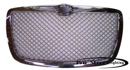 ProStreetLighting 05-07 Chrysler 300 ABS Chrome Mesh Bentley Grille Bentley Style Mesh Grille
