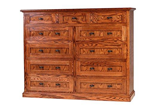 (Forest Designs Mission Oak Eleven Drawer Chest, 34
