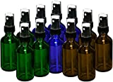 why do pep - 15ml (0.5oz) Empty Glass Spray Bottles (12 pack) - Refillable Containers with Black Fine Mist Sprayer for Essential Oils, Cleaning, Room Sprays (4 Each - Green, Amber, Blue)by THETIS Homes