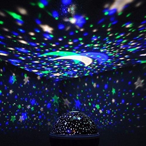 Star Projector Night Light 360 Degree Rotation Ceiling ...