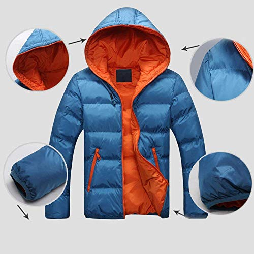 Sweat Sizes Pockets Men's White HX Down Hooded Coat Jacket Clothing Coat Jacket Coat Comfortable fashion Side Winter Short Jacket Jacket Jacket zgBg6R
