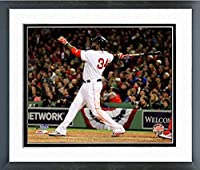 "David Ortiz Boston Red Sox World Series Action Photo (Size: 12.5"" x 15.5"") Framed"