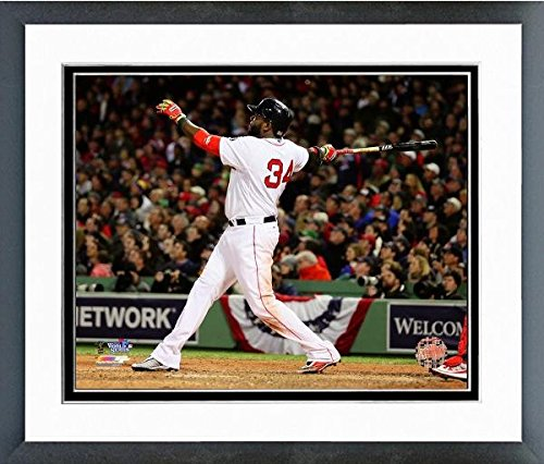 Sox Art Glass (David Ortiz Boston Red Sox World Series Action Photo (Size: 12.5