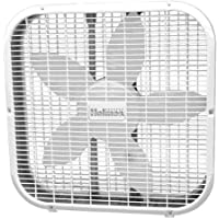 20 Whisper-Quiet Fan, Durable Metal Box Fan, White by Holmes