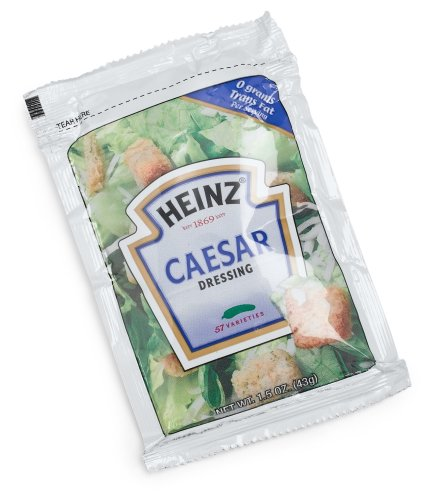 Heinz Caesar Salad Dressing Packet, 1.5 oz. (Single serve salad dressings) Pack of (Easy Caesar Salad Dressing)