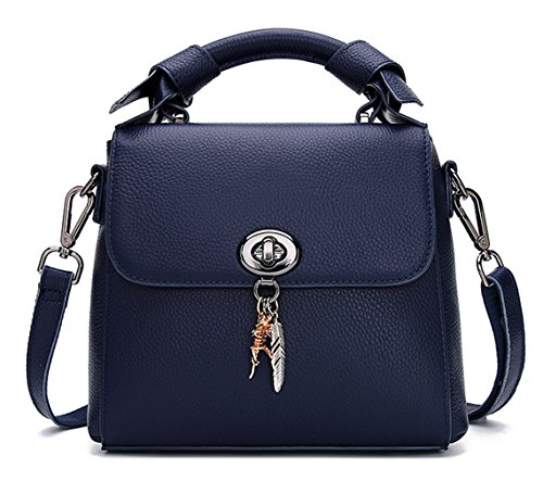 Ladies SAIERLONG Blue Royal Leather Bags Shoulder Designer Royal Blue Tote 6OqnxOdZR