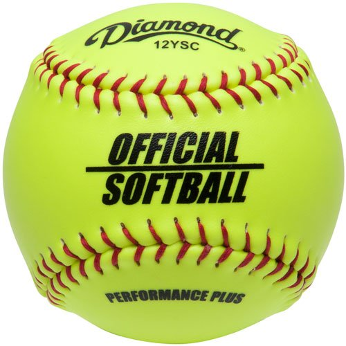 Diamond Official Fastpitch 12Ysc Softballs with Bucket 18 Ball Pack W//Bucket