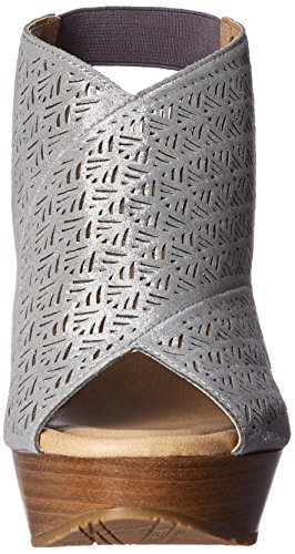 Kenneth Womens REACTION Wedge Safe 2 Pewter Sandal Sole Cole EgrHqg