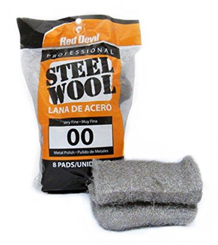 Red Devil 0322 Steel Wool, 00 Very Fine, (Pack of 8)
