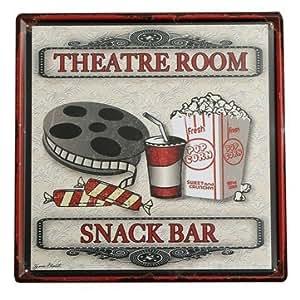Metal tin signtheater snack bar tin sign for Bar decor amazon