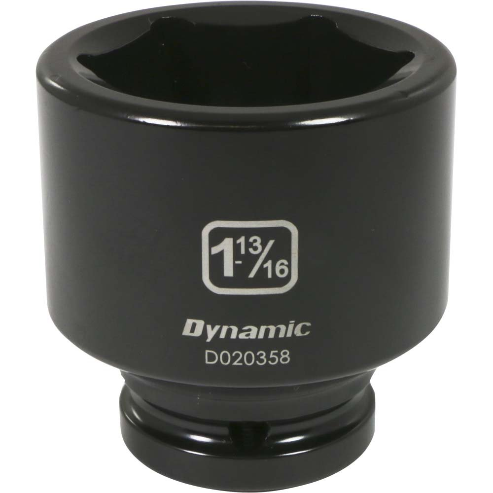 Impact Socket 2-Inch Standard Length Dynamic Tools 3//4-Inch Drive 6 Point SAE