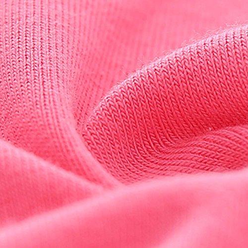 Maniche Lunghe Weixinbuy Abiti v collo Rosa Neonate Base Cotone Tutu A Solida XWWSwTq6