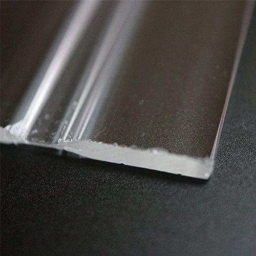 4 x 100mm low profile flex hinges, flexible living hinges, plexiglass, Transparent, Continuous Acrylic Piano Hinges ()