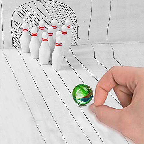 Miniature Bowling Game Set -24 Pack Deluxe - for Kids, Playing, Party, Fun, Boys, Girls, Bowlers Etc.- Kidsco by Kicko (Image #6)