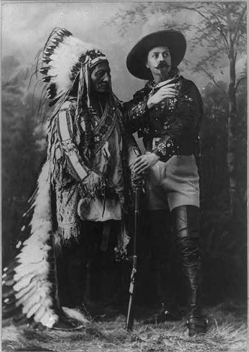 1890 Photograph - Infinite Photographs Photo: Sitting Bull, 1831-1890, Sioux holy Man, Buffalo Bill, William Cody, 1846-1917 Size: 8x10 (