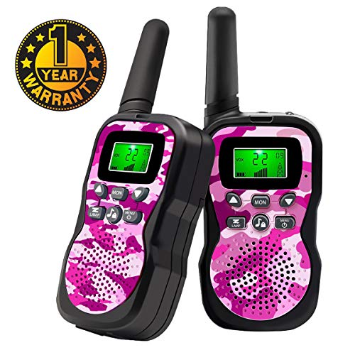 Sun-Team Walkie Talkie for Kids, 22 Channels 2 Way Radio with Backlit LCD Display and Flashlight Range Up to 3 Miles Popular Hottest Gifts for 3-10 Year Old Boys Girls