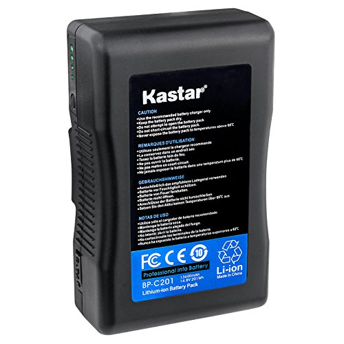 Kastar V-Mount BP-C201 Broadcast Replacement Li-ion Battery, 14.8V 13600mAh 201Wh for Anton Bauer CINE 90, ARRI Alexa Minicamera, AJA CION Camera Body, Blackmagic Design URSA camera, Cine Alta Camera by Kastar