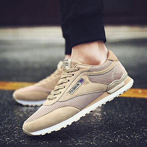 Size Shoes,Men's B Fall A 42 ,Flat Running Athletic Shoes ,Spring Outdoor PU XUE Low Lace Top Sneakers Heel ,Comfort Color up,Comfort 5wBURnC