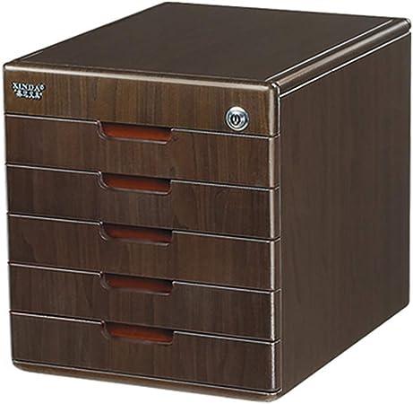 Archivadores de fichas Gabinetes for archivos caja de almacenamiento de escritorio muebles de oficina gabinete de archivo 5 cajones con cerradura de alta capacidad, puede almacenar archivos A4: Amazon.es: Hogar