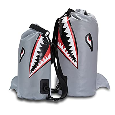 Dry Bag Waterproof 10/20L, Shark Dry Bag Backpack for Kayaking, IPX6 Certified Lightweight designed for Beach, Camping, Boating, Hiking, Rafting and Fishing
