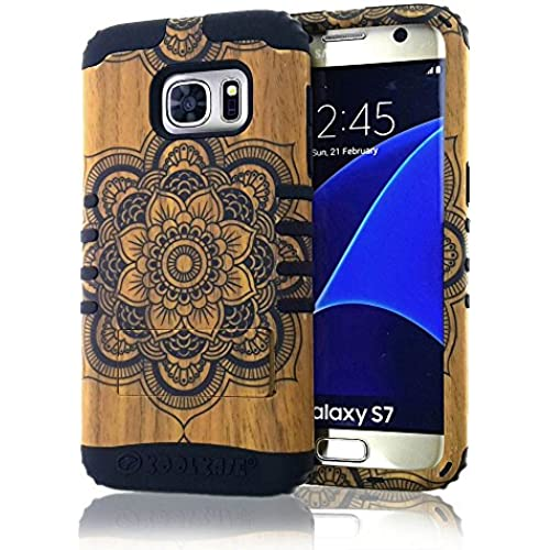 Galaxy S7 Case, Koolkase [Shock Absorb] Hybrid Dual Layer [Heavy Duty] Defender Protective Case Cover for Samsung Galaxy S7 (Henna Woody) Sales