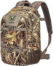 TIDEWE Hunting Backpack with Waterproof Rain Cover, 25L Realtree Edge Camo Hunting Pack, Durable Hunting Day P