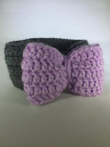 Baby Girl Big Bow Headband, Black/Purple, 0-6 months