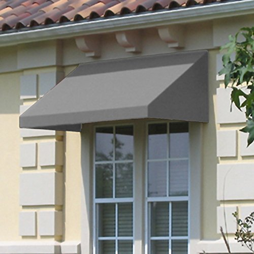 Awntech 4-Feet New Yorker Window/Entry Awning, 24-Inch Height by 36-Inch Diameter, Gray by Awntech (Image #2)