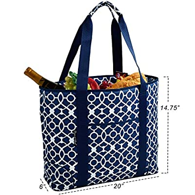 Picnic at Ascot Extra Large Insulated Cooler Bag - 30 Can Tote- Designed & Quality Approved in USA: Kitchen & Dining