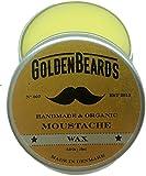 Golden Beards, cera organica per baffi, 100% naturale, da 15ml, con olio di jojoba, argan e albicocca, idrata la barba e pelle. Prenditi cura della tua barba con il prodotto perfetto per la sua cura, con oli 100% vegani e organici. Basta con la barba che punge, un ottimo prodotto per una barba morbida, unguento per barba, set regalo -