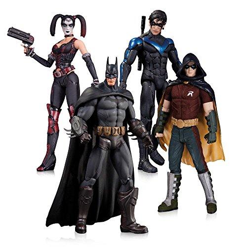 Warner Bros. Arkham City: Batman, Robin, Harley Quinn and Nightwing Action Figure Four Pack Set