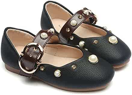 25a802039d6e T-JULY Breathable Anti-Slip Girls Mary Jane Shoes with Metal Buckles  (Toddler