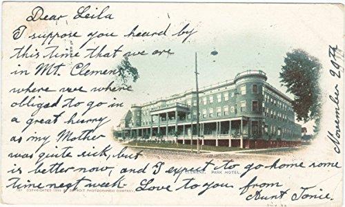 Historic Pictoric Postcard Print   Park Hotel, Mt. Clements, Mich, 1899   Vintage Fine Art
