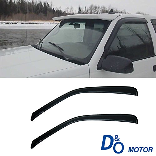 2pcs Front Car Sun Rain Guard Vent Shade Window Visor Wind Deflector Non In Channel For 1996-2014 Chevy Express/GMC Savana 1500/2500/3500 Van/ 2003-2009 Chevy Kodiak/GMC Topkick C4500/C5500 - 2007 Chevy Van