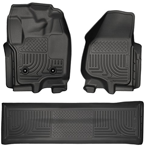Husky Liners 99711 Front & 2nd Seat Floor Liners Fits 12-16 F250 Crew WITH Carpet and Driver Side Foot (F250 Carpet)