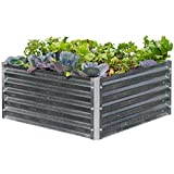 Continental MGB-H043-CA Raised Metal Garden Bed, High Square, Large