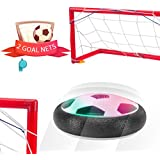 Kids Soccer Goal Toys Football Soccer Indoor Set with Powerful LED Lights and 2 Goal Nets for boys and girls