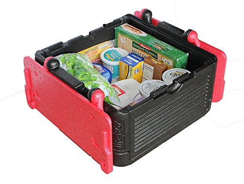 Flip Box Large Cooler Insulation Box Red – Fits 45 Cans, Collapsible, Light Weight, Food Safe – Perfect for Picnics, Groceries, Tailgating, Camping