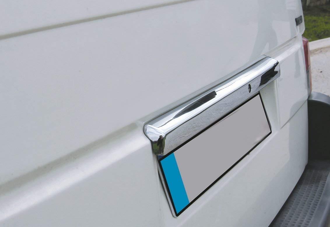 de acero inoxidable para Transporter//Port/ón trasero//Multiactivo T4 cromada T4 Cubierta para puerta trasera