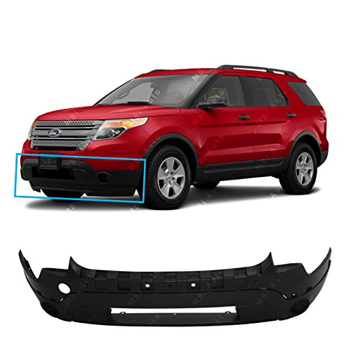 - MBI AUTO - Textured, Black Front Lower Bumper Fascia for 2011-2015 Ford Explorer W/Out Fog 11-15, FO1015113