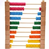 GYBBER&MUMU Wooden Abacus Educational Detachable Counting Toy Classic Math ounting Tool Toddler with Colorful 100 Beads