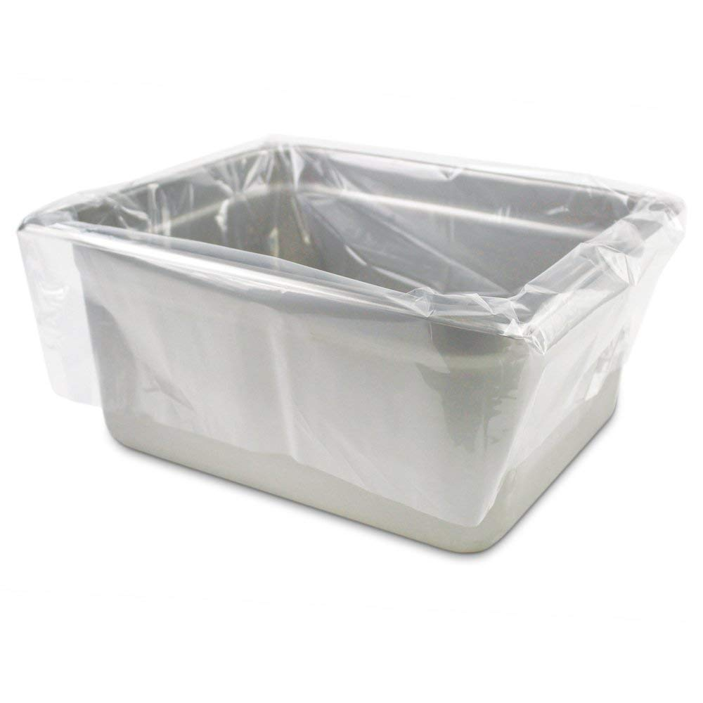 APQ Pack of 250 Steam Table Pan Liners with Twist Tie 18 x 14 for 1/3 Pan. Disposable Polyethylene Pan Liners 18x14. Poly Bun Pan Covers for Caterers, Cafeterias, Restaurants.