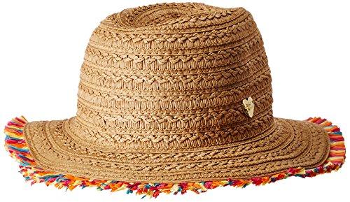Betsey Johnson Womens Fringe Factor Panama Hat